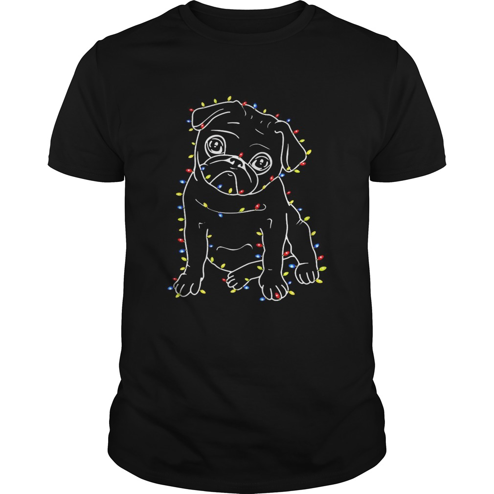 Pug Christmas lights xmas Unisex