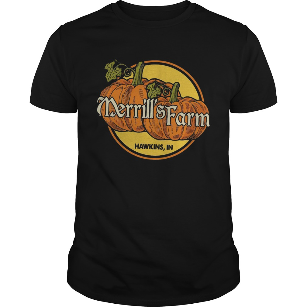 Pumkin Merrills farm Hawkins in shirt