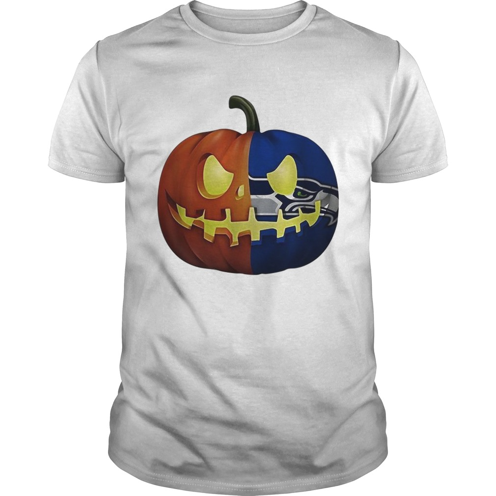 Seattle Seahawks pumpkin Halloween shirt