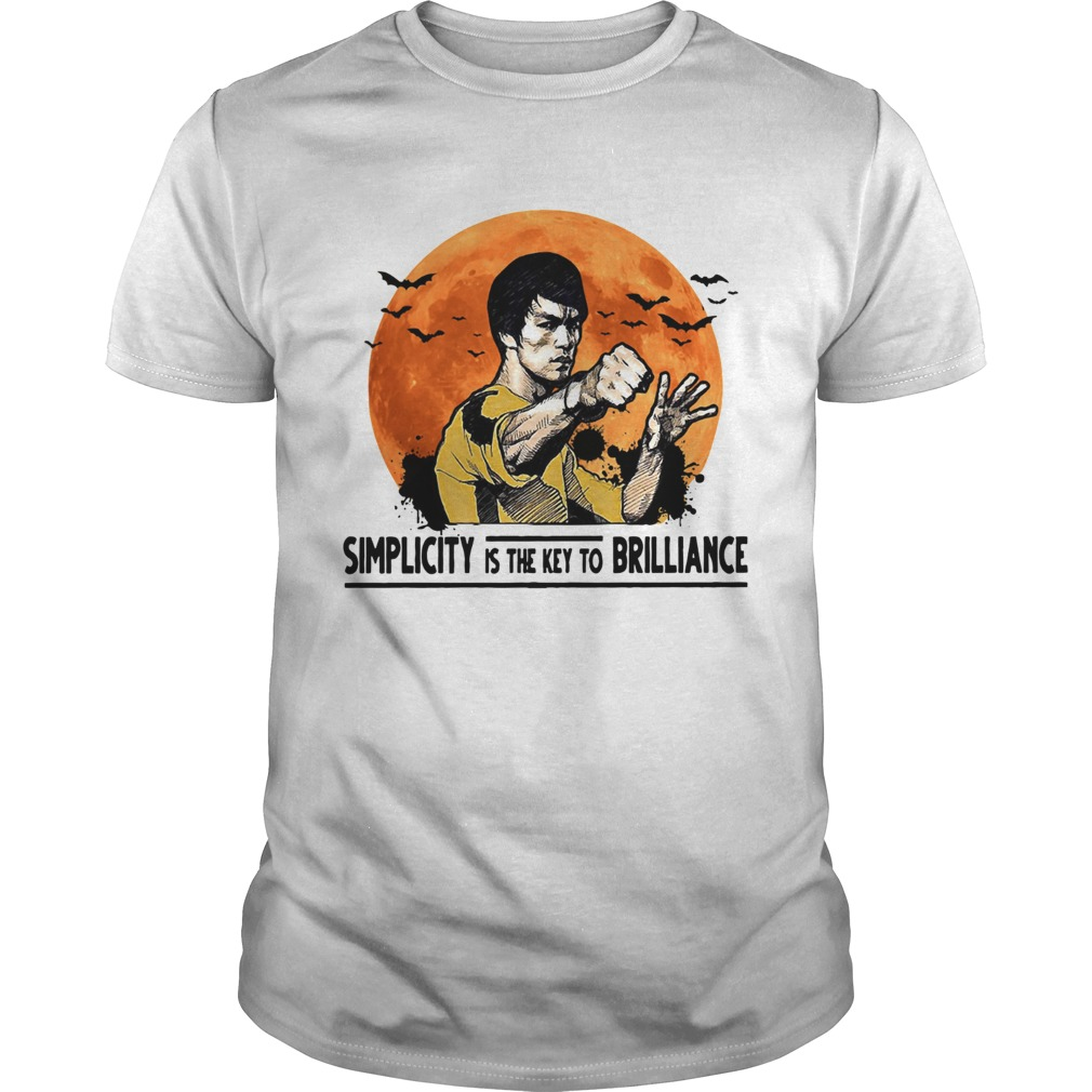 Simplicity is the key to brilliance halloween shirt