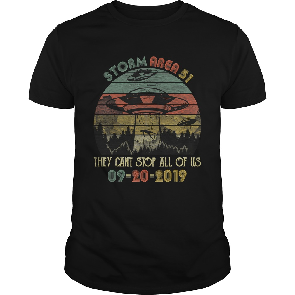 Storm Area 51 They Cant Stop All of Us Vintage Alien TShirt