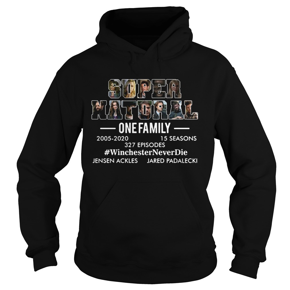 Supernatural one family 2005 2020 Winchester Never die Hoodie