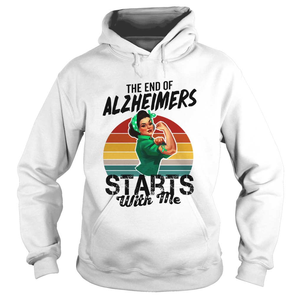 The end of Alzheimers Starts with me we can do it  Hoodie