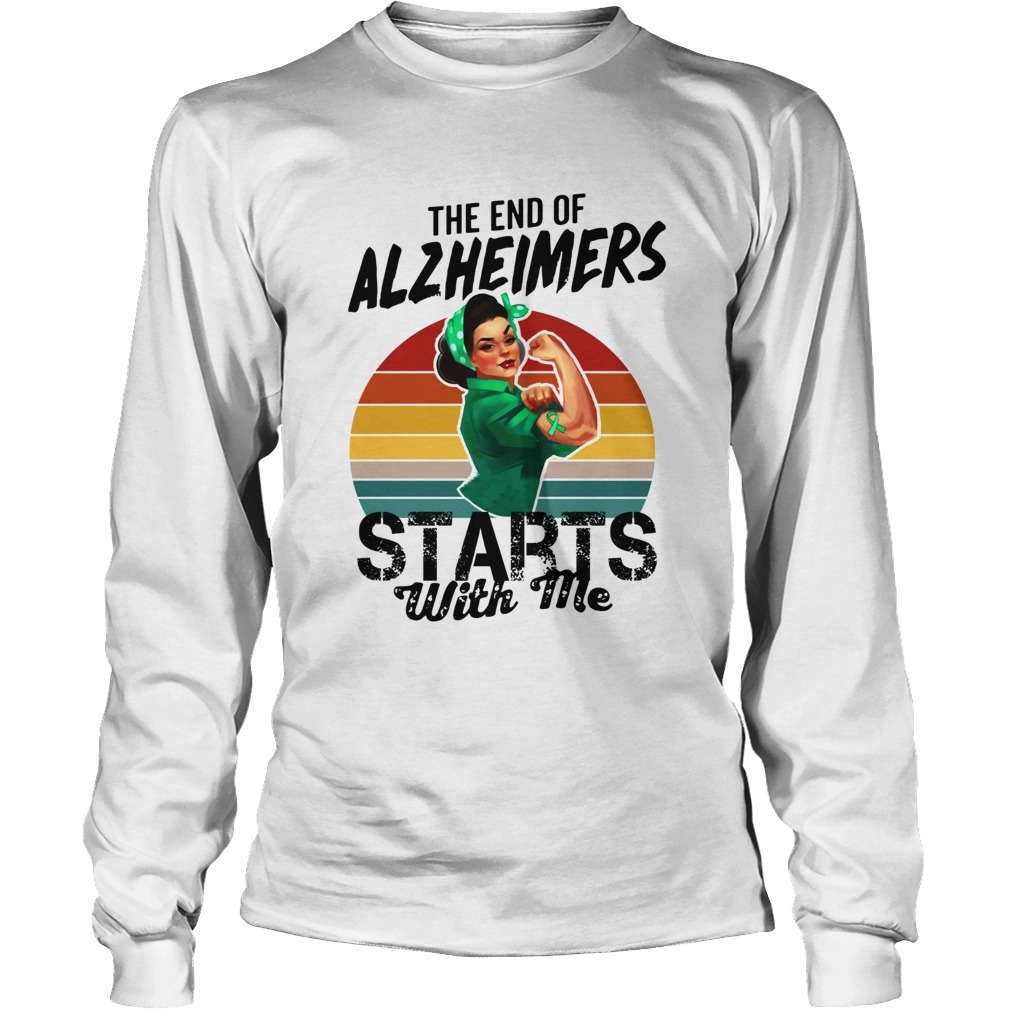 The end of Alzheimers Starts with me we can do it  LongSleeve
