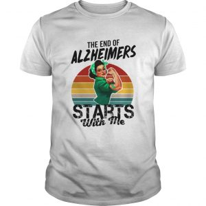 The end of Alzheimers Starts with me we can do it shirt
