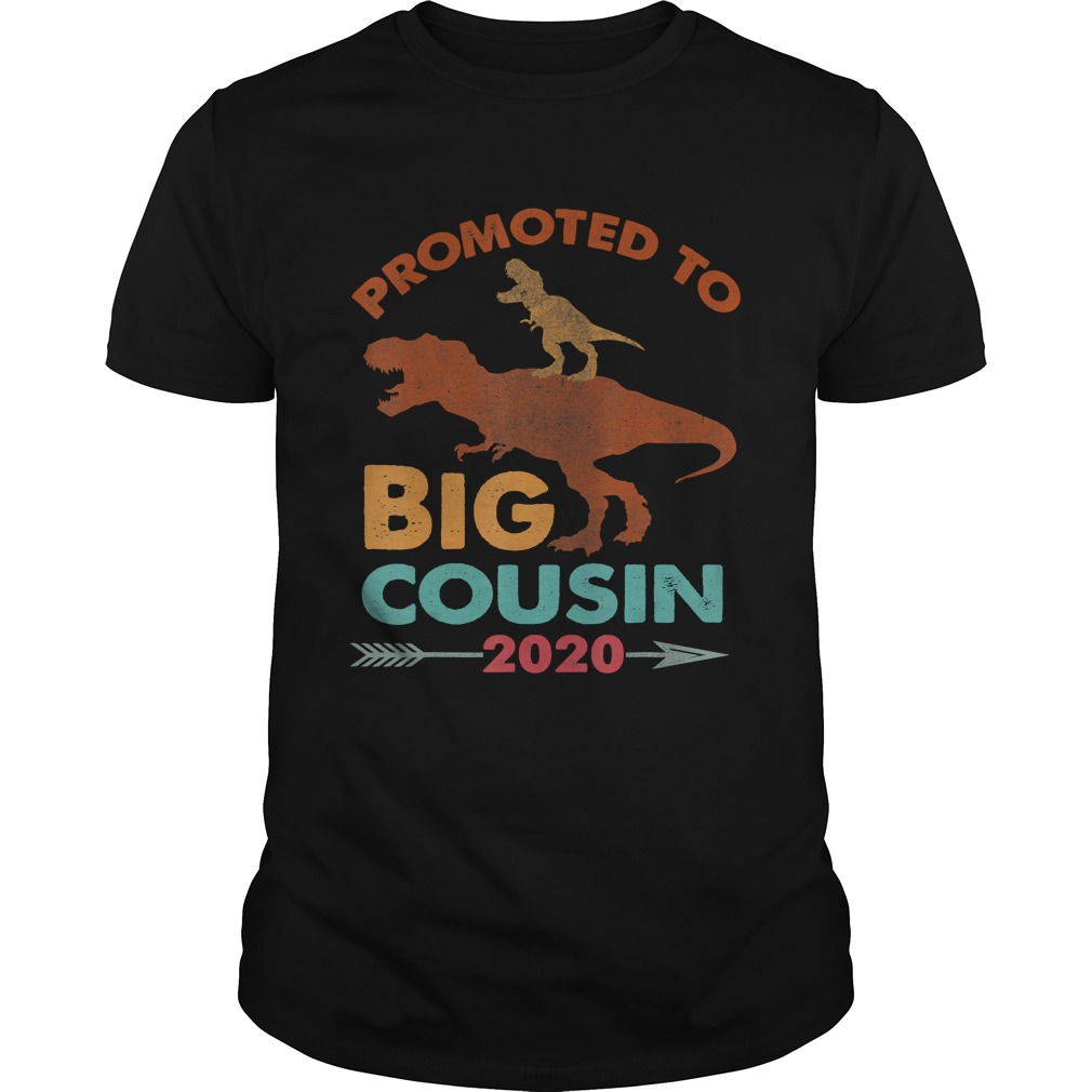 Trex Riding DinosaurVintage Promoted To Big Cousin 2020 TShirt