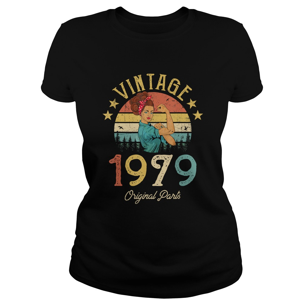 1568293436Vintage 1979 Made in 1979 40th Birthday 40 years old Gift T-Shirt Classic Ladies