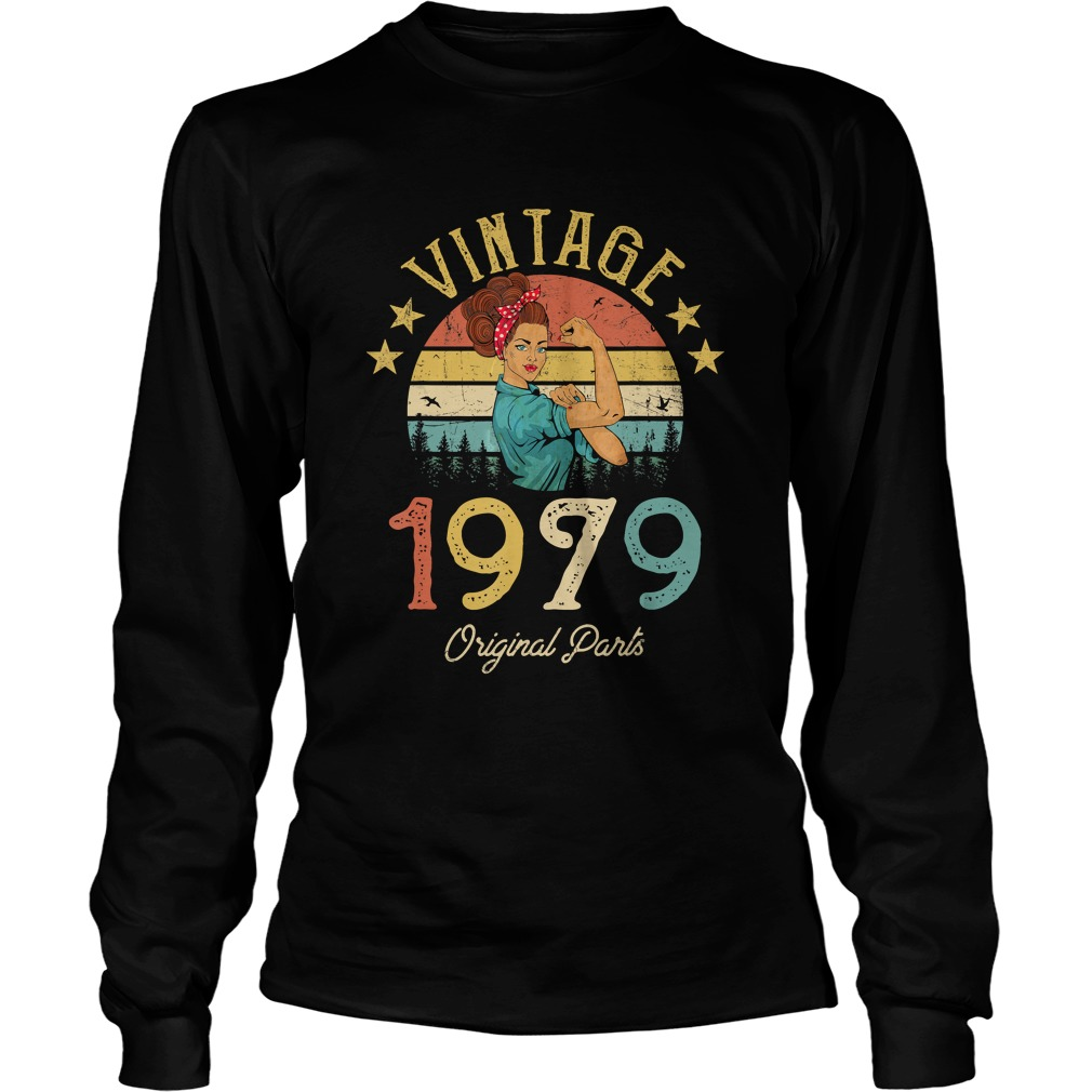 1568293436Vintage 1979 Made in 1979 40th Birthday 40 years old Gift T-Shirt LongSleeve