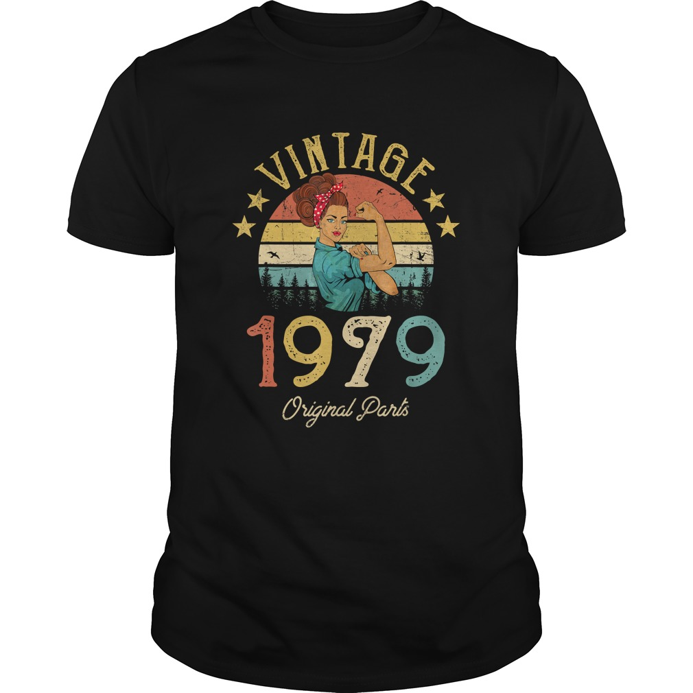 1568293436Vintage 1979 Made in 1979 40th Birthday 40 years old Gift T-Shirt Unisex
