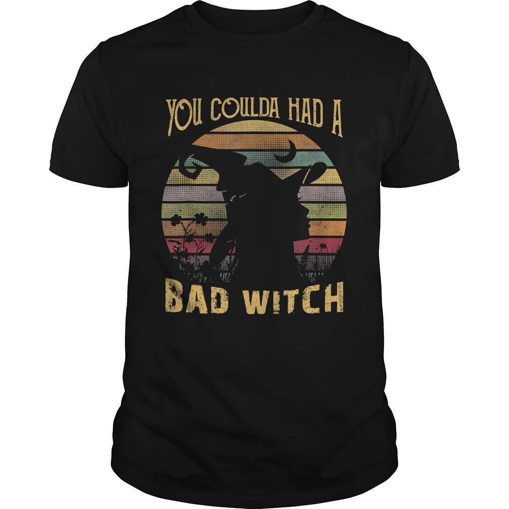 You Coulda had a Bad Witch Halloween Funny Gift Awesome TShirt
