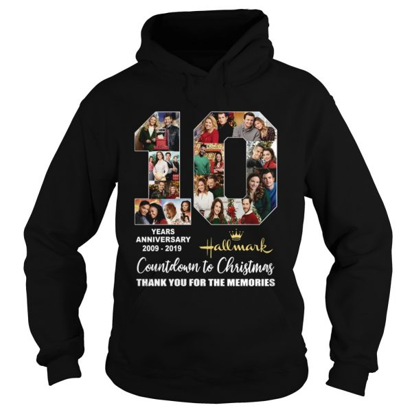10 years anniversary Hallmark 2009 2019 Countdown to Christmas  Hoodie