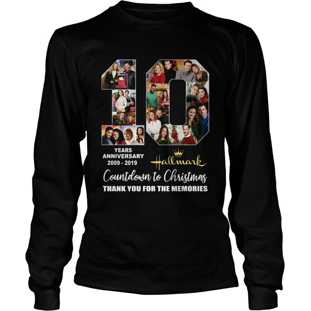 10 years anniversary Hallmark 2009 2019 Countdown to Christmas LongSleeve