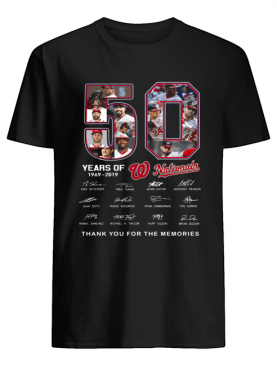 50 Years of Washington Nationals thank you for the memories signature shirt