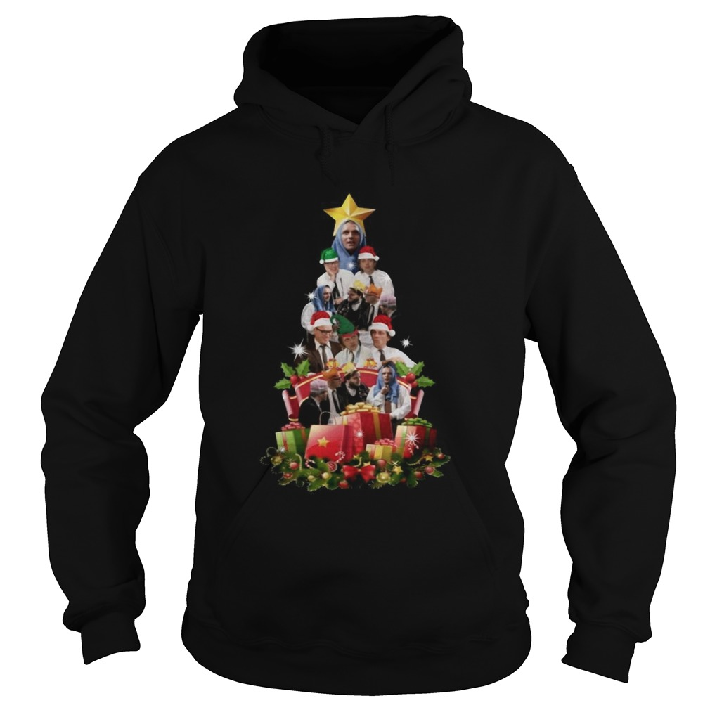 Bottom Richie and Eddie Christmas Tree Hoodie