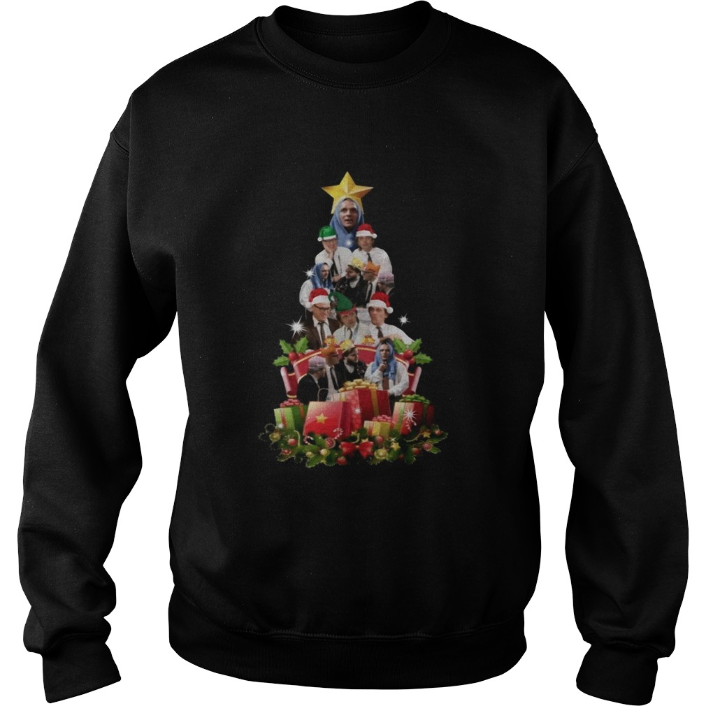 Bottom Richie and Eddie Christmas Tree Sweatshirt