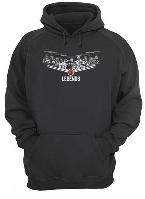 Calgary Flames Legends team signature  Unisex Hoodie