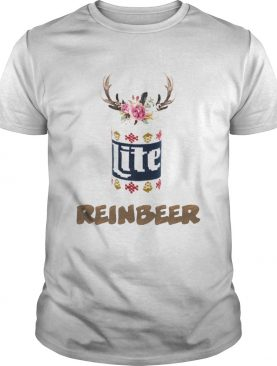 Can Miller Lite Reinbeer Funny Christmas Shirt