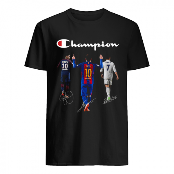 Champions Neymar Jr Messi and Ronaldo  Classic Men's T-shirt