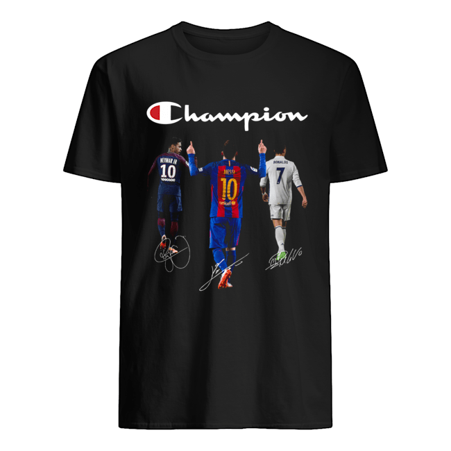 Champions Neymar Jr Messi and Ronaldo Classic Mens T shirt