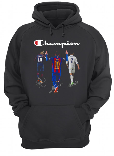 Champions Neymar Jr Messi and Ronaldo  Unisex Hoodie