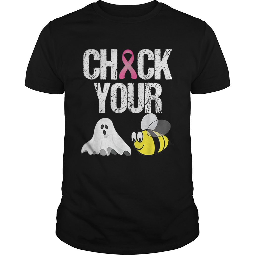 Check Your Boo Bees Funny Breast Cancer Halloween shirt