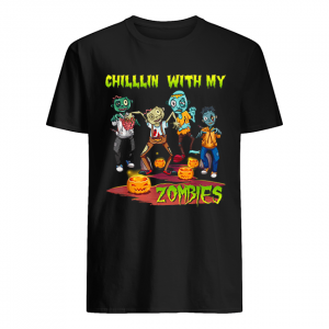 Chillin With My Zombies Halloween  Classic Men's T-shirt