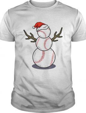 Christmas in July Summer Baseball Snowman Party Gift TShirt