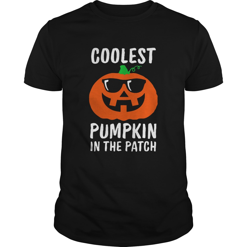 Coolest Pumpkin in the Patch Halloween Costume Boys Girls TShirt