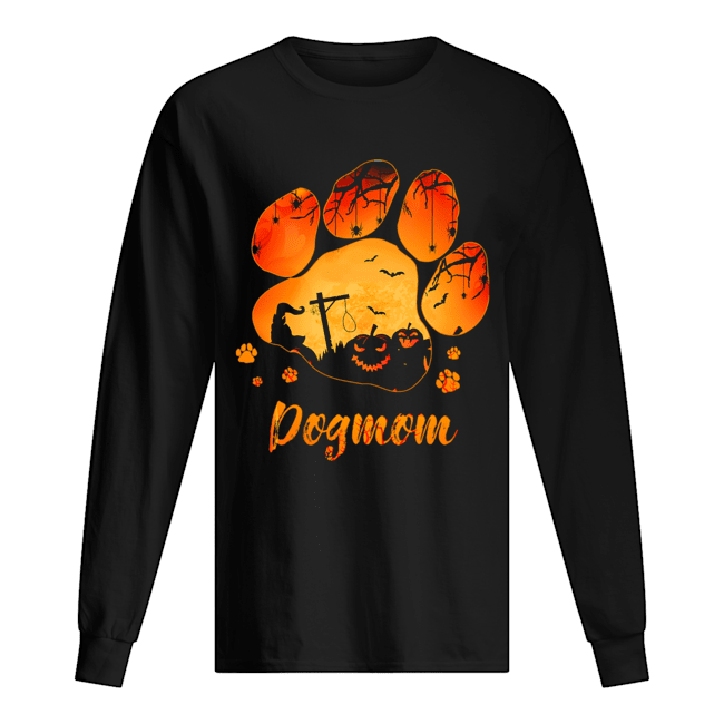 Dog Paw Dog Mom Halloween T-Shirt Long Sleeved T-shirt