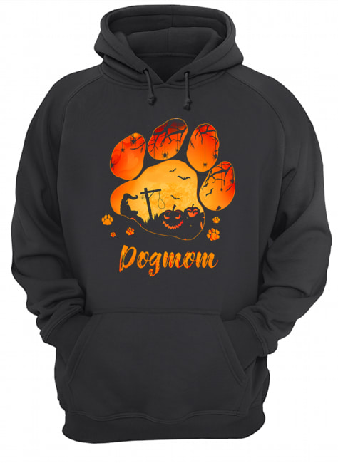 Dog Paw Dog Mom Halloween T-Shirt Unisex Hoodie
