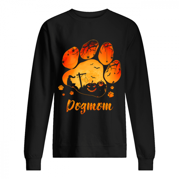 Dog Paw Dog Mom Halloween T-Shirt Unisex Sweatshirt