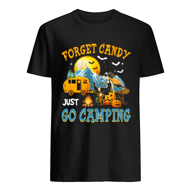 Forget Candy Just Go Camping Halloween T Shirt Classic Mens T shirt