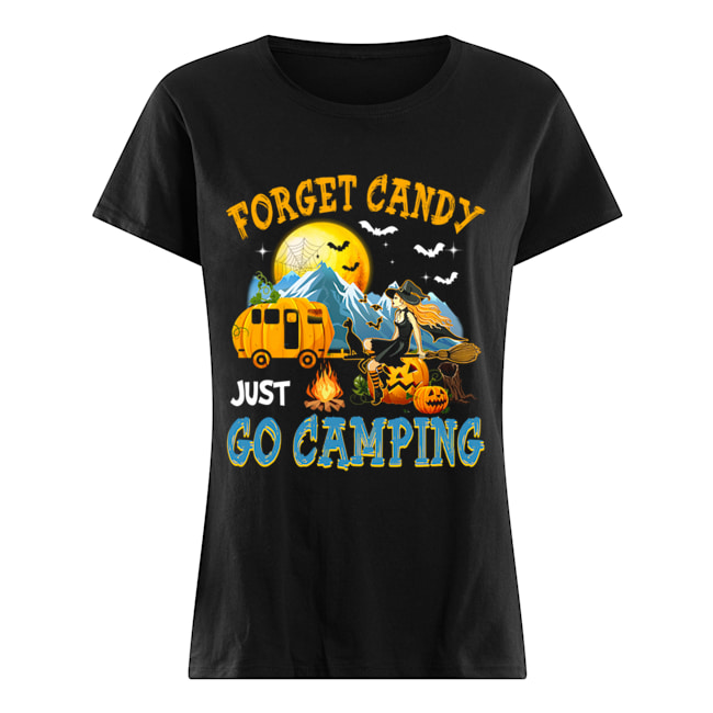 Forget Candy Just Go Camping Halloween T-Shirt Classic Women's T-shirt