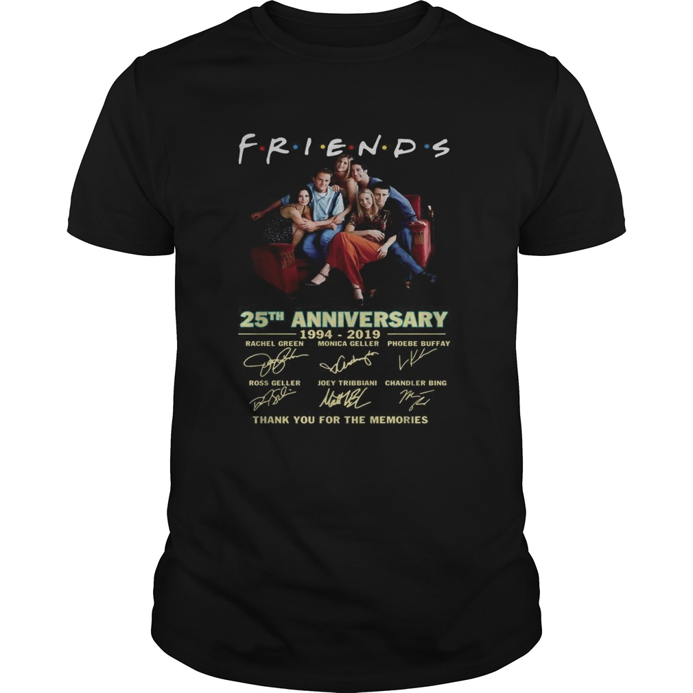 Friends TV Show 25th Anniversary 19942019 signatures shirt
