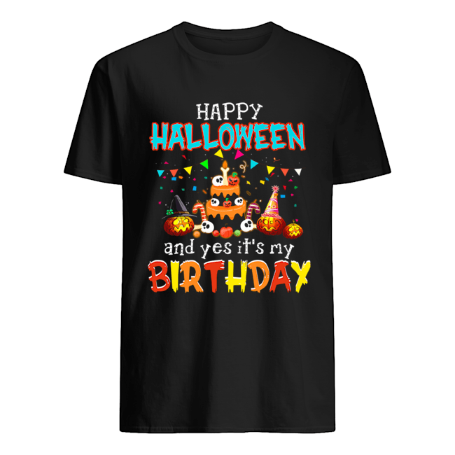 Halloween And Yes Itx27s My Birthday Awesome T Shirt Classic Mens T shirt