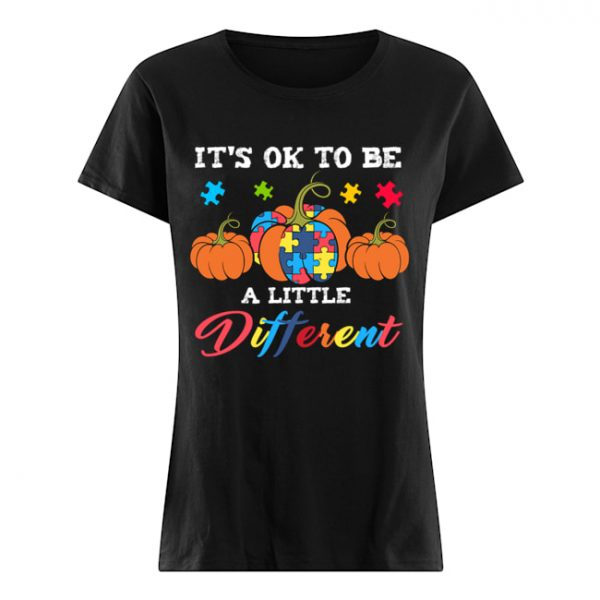 Halloween Autism Pumpkin It's OK to be a little different T-Shirt Classic Women's T-shirt
