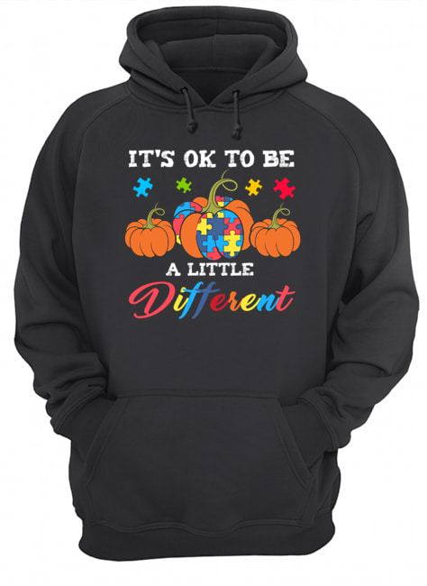 Halloween Autism Pumpkin It's OK to be a little different T-Shirt Unisex Hoodie