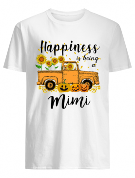 Halloween Car Pumpkin Happiness Is Being A Mimi T-Shirt