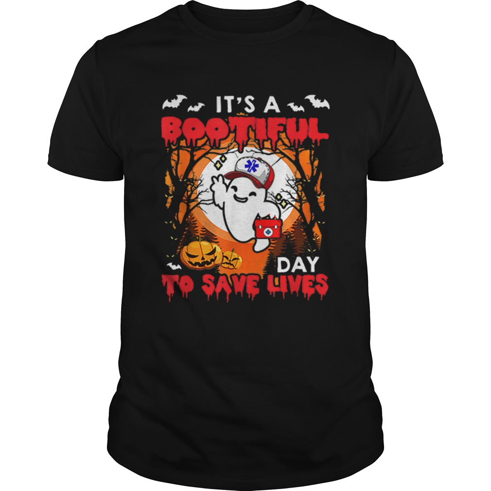 Halloween Costume Boo Bootiful Day Save Lives Paramedic shirt