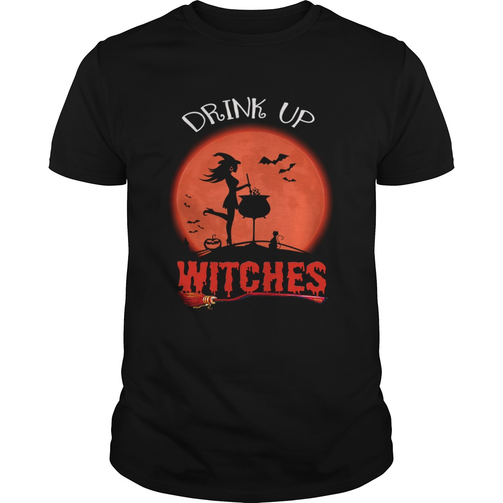 Halloween Drink Up Withches Vintage Wine Lover Gift TShirt