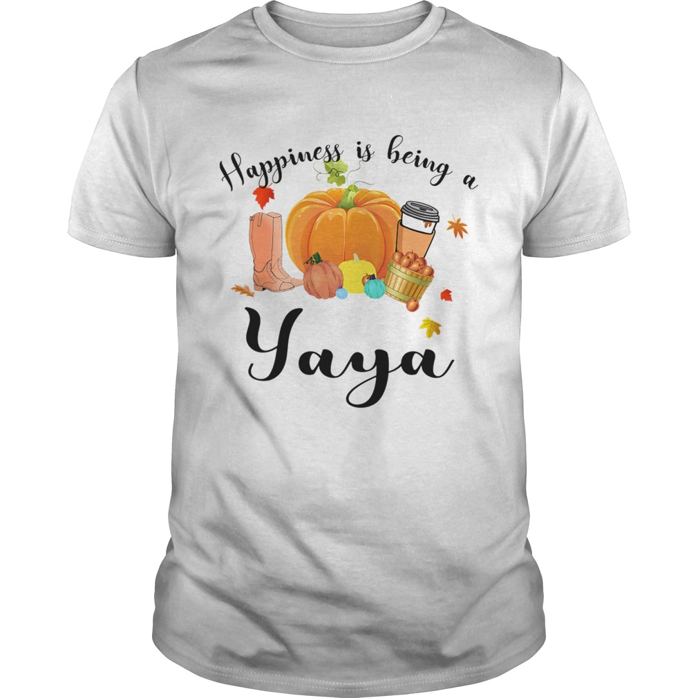 Halloween Pumpkin Happiness Is Being A Yaya TShirt