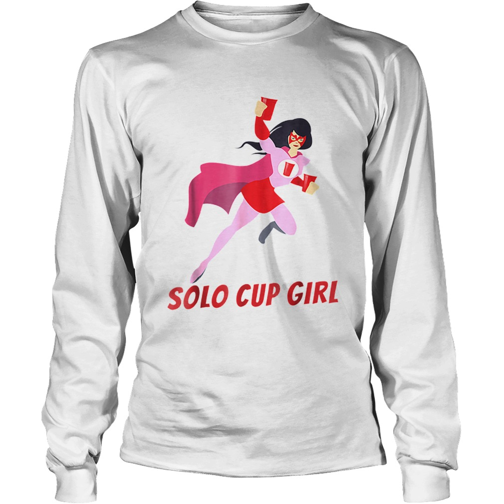Halloween Solo Cup Women Beer Super Hero Costume LongSleeve