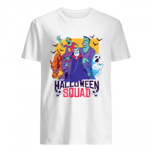 Halloween Squad Spooky Scary Ghosts  Classic Men's T-shirt