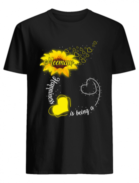 Happiness Is Being A Meemaw Sunflower T-Shirt