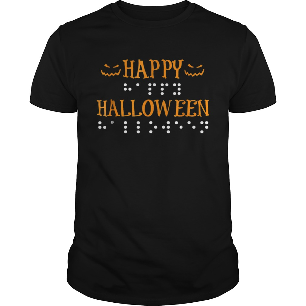 Happy Halloween Braille Dots shirt