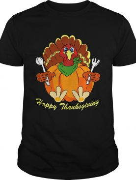 Happy Thanksgiving Hungry Turkey Holding Shirt
