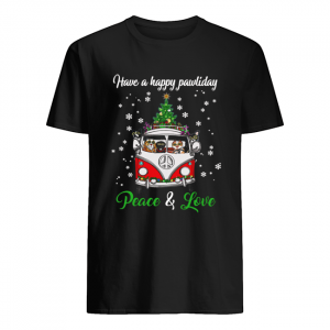 Have a happy pawlidays peace and love Dogs Christmas  Classic Men's T-shirt