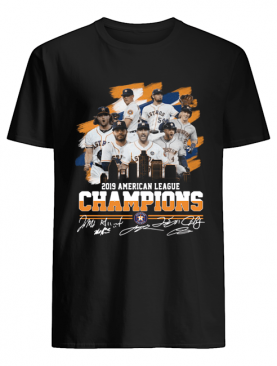 Houston Astros 2019 American League Champions Signatures Shirt
