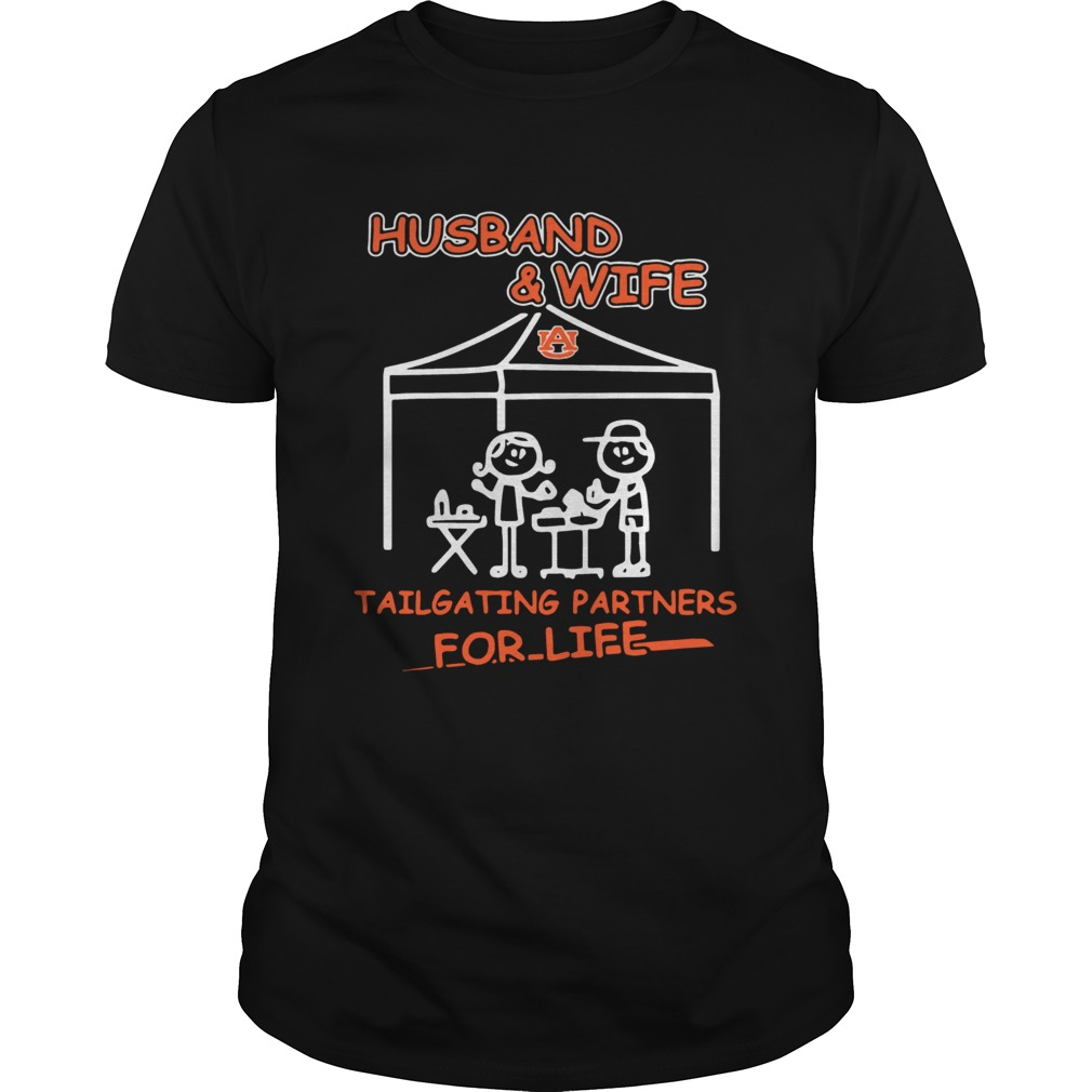 Husband wife Auburn Tigers Tailgating partners shirt