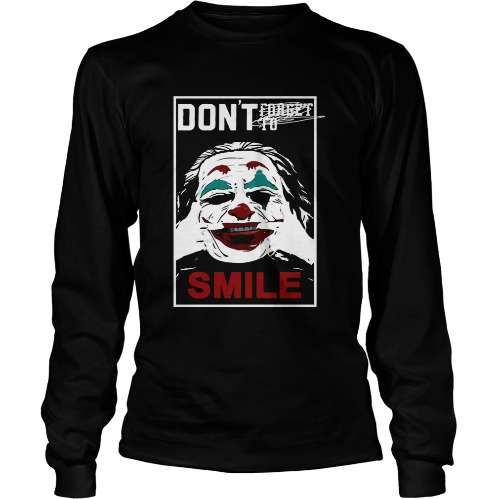 Joker dont forget to smile LongSleeve